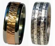 Titanium Rings Hammered Collection