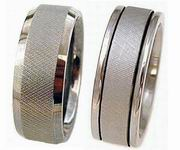 Titanium Ring Knurled Collection includes 2 unique rings with black grooves, beveled rolled edges that are wholesale priced. More rings will come later.