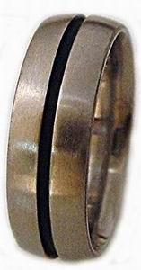 Ring 7  Titanium Domed